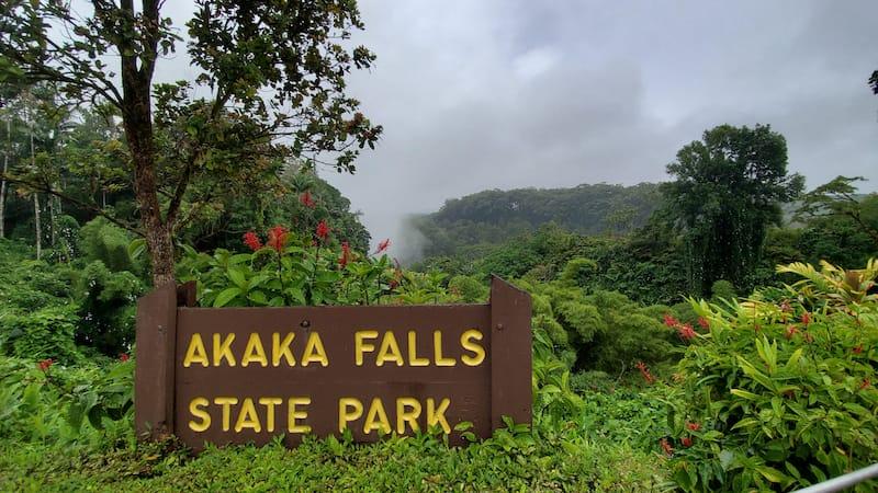 Akaka Falls State Park entrance