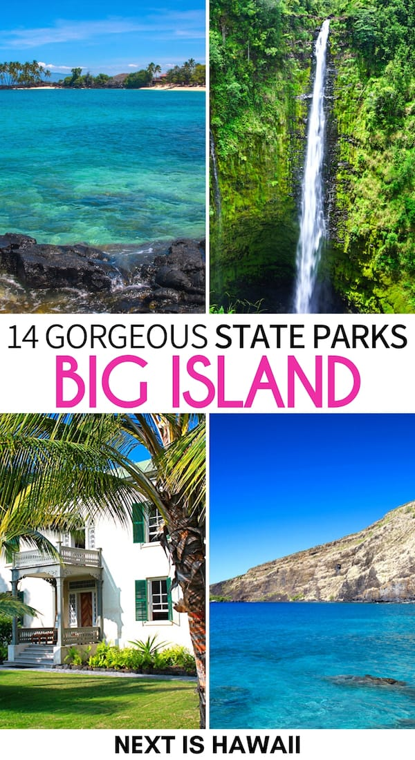Looking for some unique places to visit on the Big Island? These are some beautiful state parks on the Big Island of Hawaii - historical, natural, and more! | Big Island state parks | Big Island Hawaii state parks | Big Island itinerary | Itinerary for the Big Island | Things to do in Hawaii | Things to do Big Island | Big Island things to do | Big Island places to visit | Big Island history | Big Island waterfalls | Big Island hiking