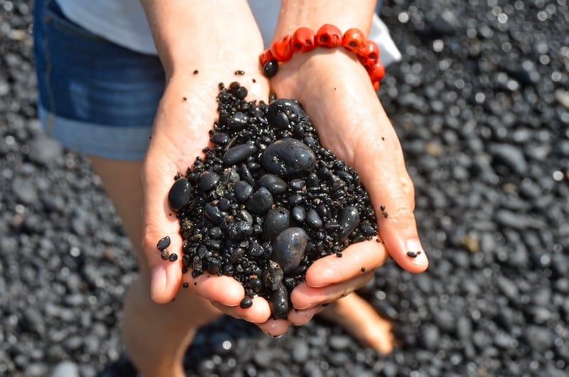 Black Sand in Wai'anapanapa