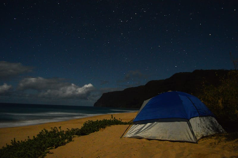 Camping at Polihale State Park