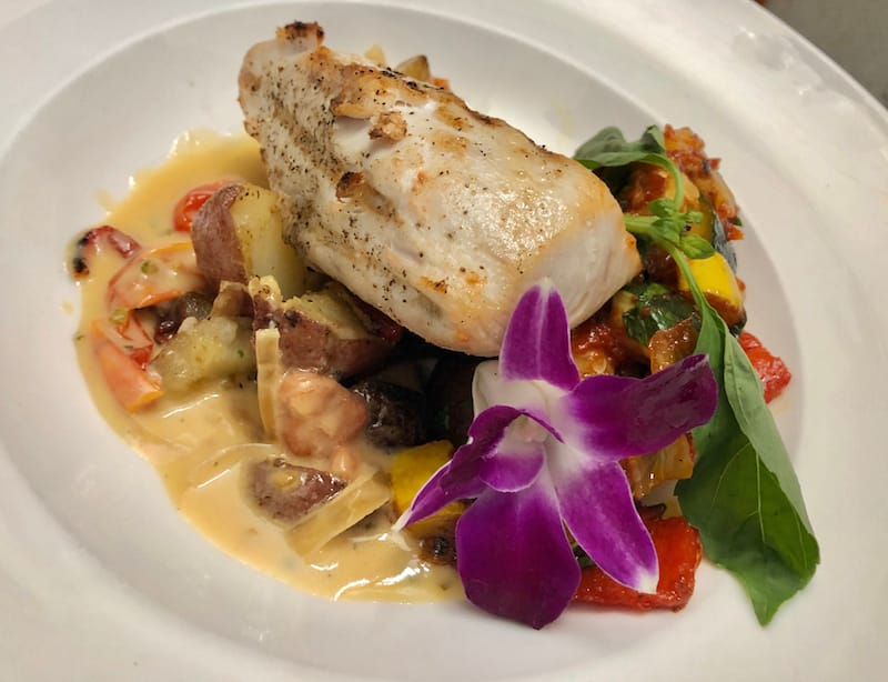 Fresh seafood on Maui