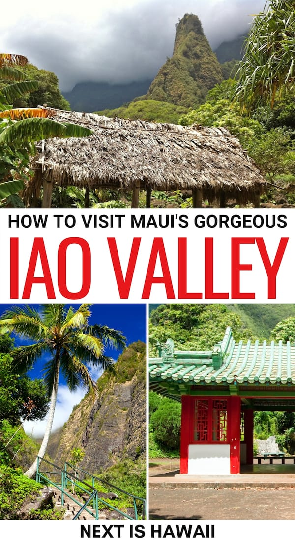 Looking to visit the iconic Iao Valley State Monument on Maui? This short guide gives you all the details to do so! How to get there, what to do, and more! | Places to visit in Maui | Maui state parks | State parks in Maui | Things to do in Maui | Iao Valley Maui | Maui things to do | Maui landmarks | Maui attractions | Maui hiking | Maui itinerary
