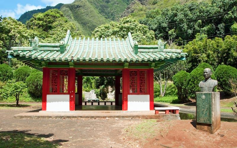 Japanese garden at Iao Valley