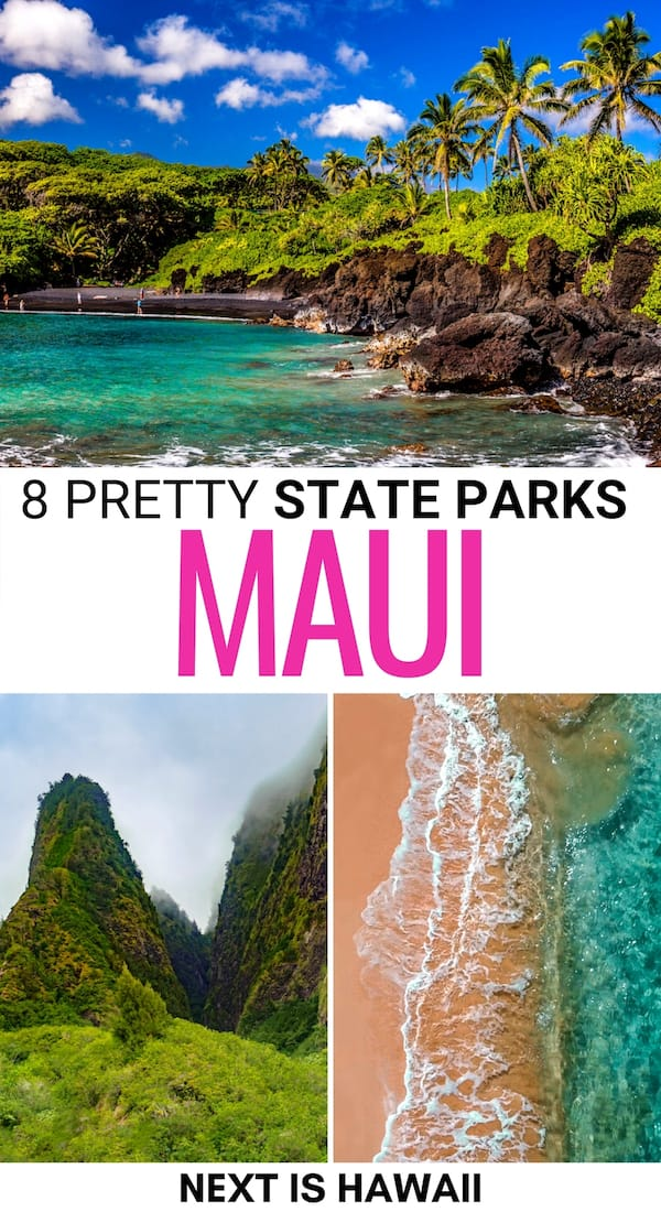 Looking to find beautiful places in Maui? These Maui state parks are spectacular and are a great addition to your island itinerary. Learn more here! | State parks in Maui | Places to visit in Maui | Maui beaches | Maui hiking | Maui hikes | Things to do in Maui | Maui nature | Maui waterfalls | What to do in Maui | Maui things to do | Maui attractions | Maui landmarks | Maui itinerary