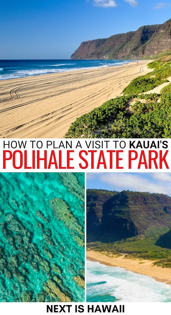 Is Polihale State Park on Kauai on your itinerary for your trip? This guide tells you about Polihale, why you should visit, and what to do when there. Learn more!   Places to visit on Kauai   Kauai state parks   State parks in Kauai   Hawaii state parks   Beaches on Kauai   Kauai things to do   Things to do in Kauai   Kauai itinerary