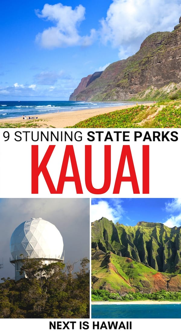 Looking for some amazing state parks in Kauai for your trip itinerary? We discuss all Kauai state parks in the post and why you should visit each!   Places to visit in Kauai   Things to do in Kauai   Best state parks on Kauai   Kauai itinerary   Visit Napali Coast   Things to do in Waimea Canyon
