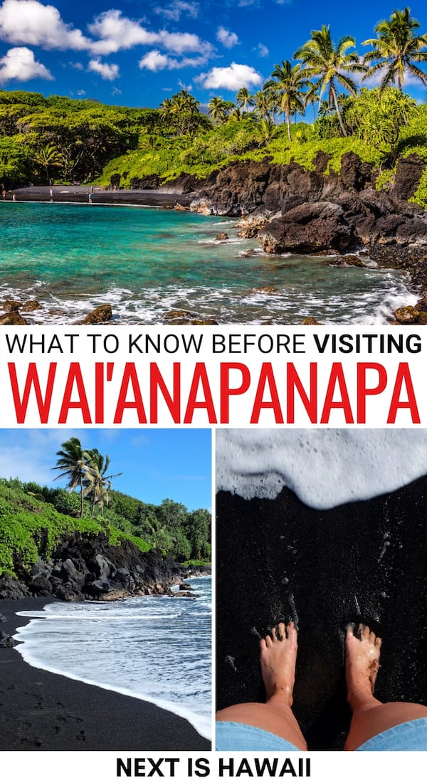 Are you planning to visit Wai'anapanapa State Park on Maui? This guide details what to do there, how to get there, and reasons to visit this beautiful place!   Places to visit on Maui   Maui things to do   Things to do in Maui   Maui itinerary   Maui state parks   What to do in Maui   Black sand beaches Maui   Hawaii state parks   Hawaii black sand beaches   Hawaii sea caves   Maui beaches
