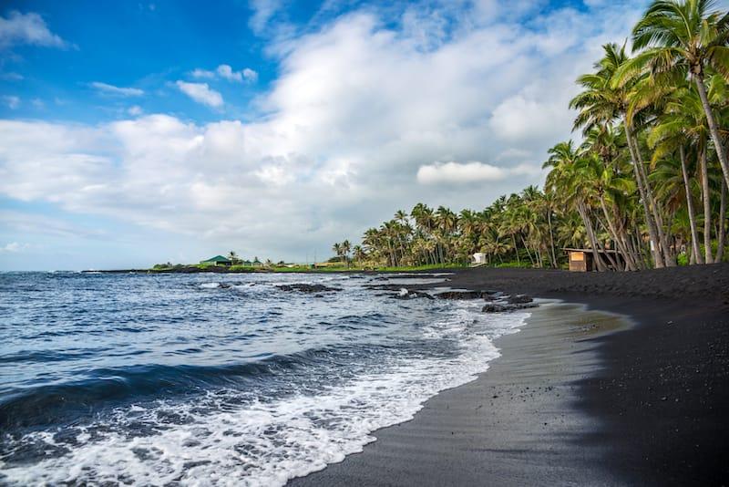 Big Island black sand beaches