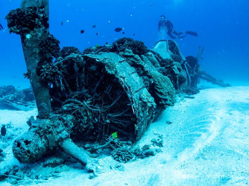 Corsair Wreck Dive Site