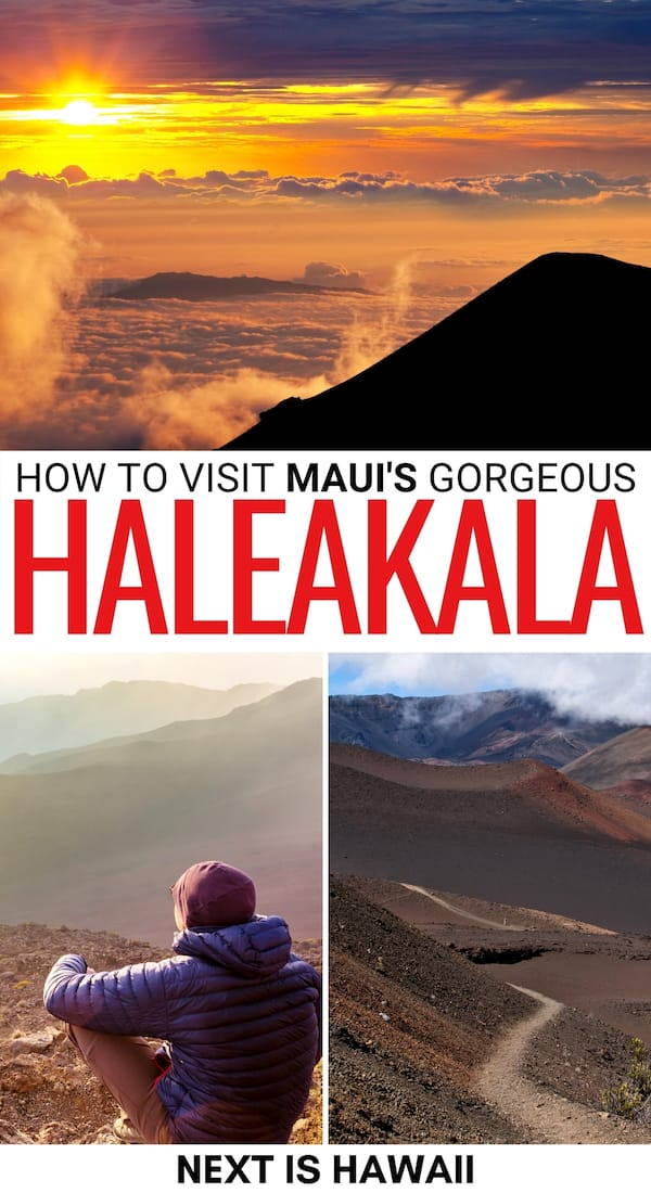 Are you planning to visit Haleakala National Park on Maui? This guide will give you all the Haleakala travel tips you need to see the epic Haleakala sunrise and sights in the US National Park.   What to see Haleakala   Visiting Haleakala   Haleakala crater   Haleakala summit   Haleakala tours   Things to do in Maui   Visit Maui   Haleakala photography   Haleakala hiking   Haleakala observatory   Maui volcano   Maui waterfalls   Kula Maui