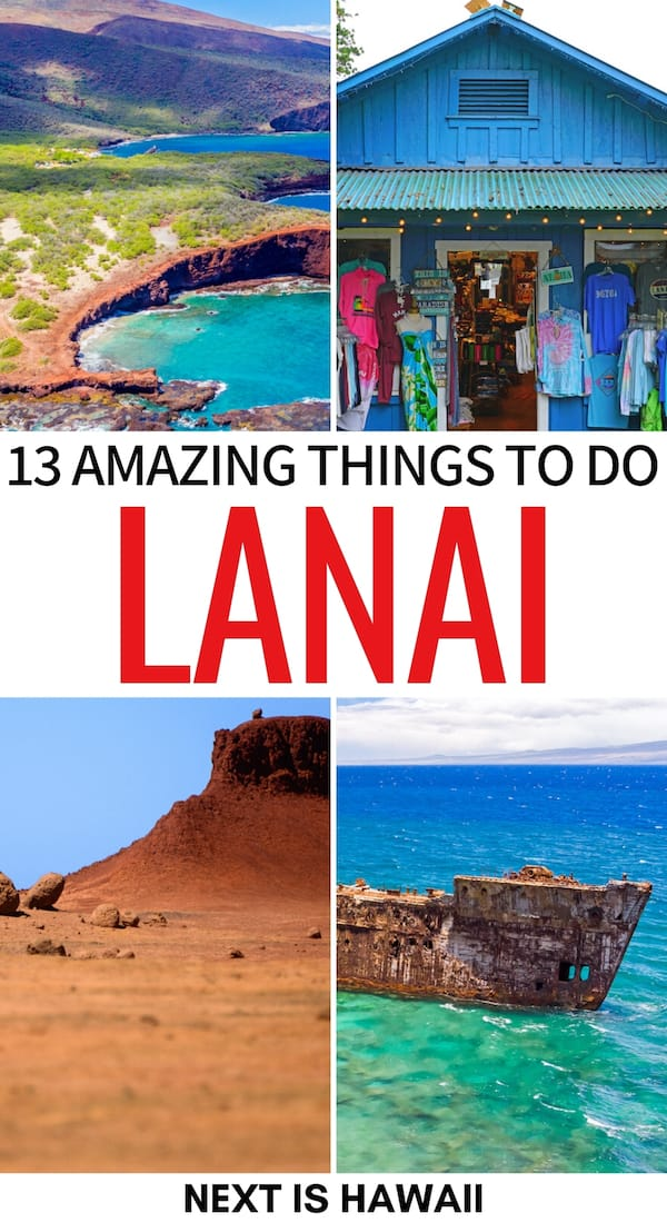 There are so many things to do in Lanai - one of the lesser-known Hawaiian Islands. This is a guide to the best Lanai attractions, adventures, and more! | What to do in Lanai | Lanai things to do | Lanai trip | Lanai itinerary | Places to visit in Lanai | Hiking in Lanai | Lanai trails | Lanai travel | Day trip to Lanai from Maui