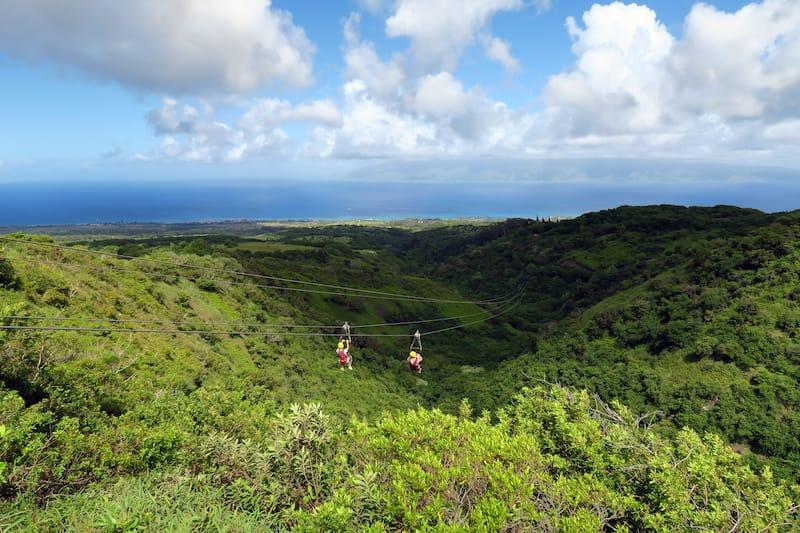 Ziplining Maui