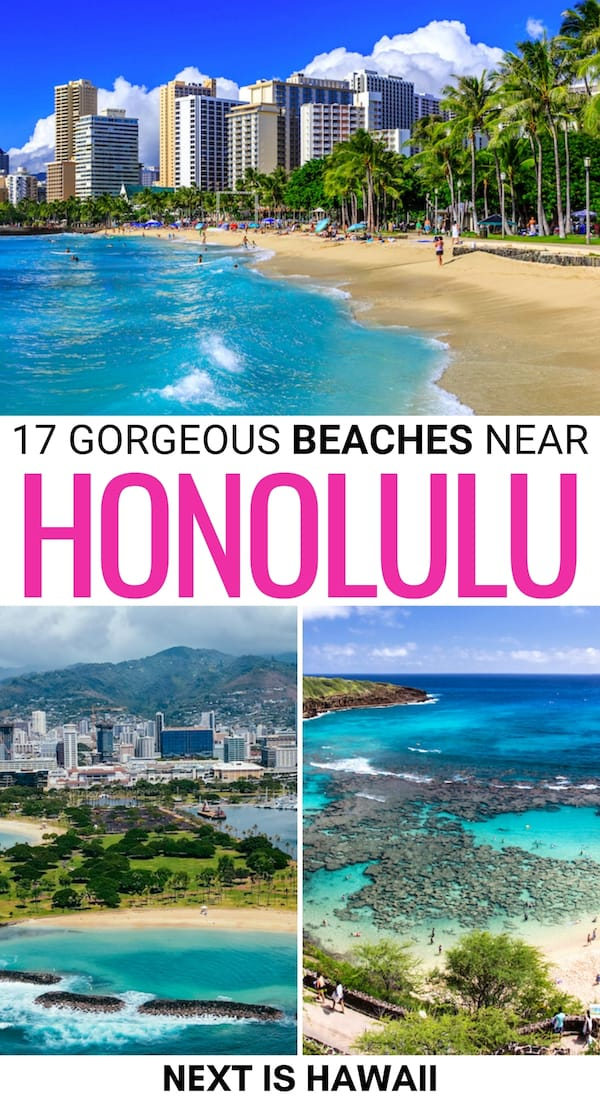 Looking for the best Honolulu beaches to visit on your trip? These are some of the most beautiful beaches in Honolulu (and nearby)! Click to learn more!   Beaches near Honolulu   Things to do in Honolulu   Oahu beaches   Waikiki Beach   Places to visit in Hawaii   Best Hawaii beaches