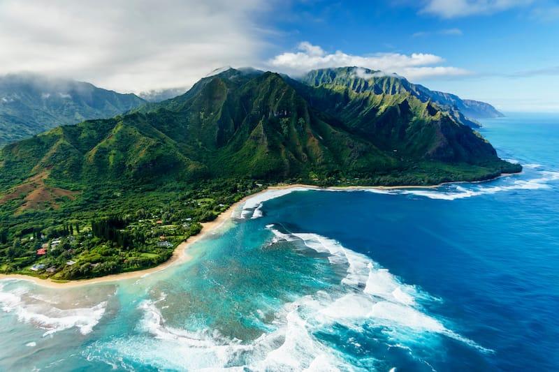 Napali Coast off of Kauai