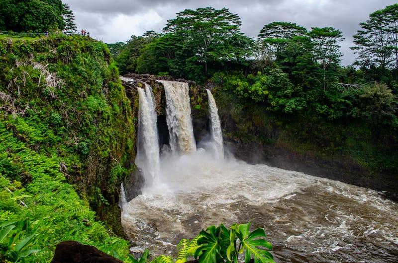 Rain and waterfall in Hilo