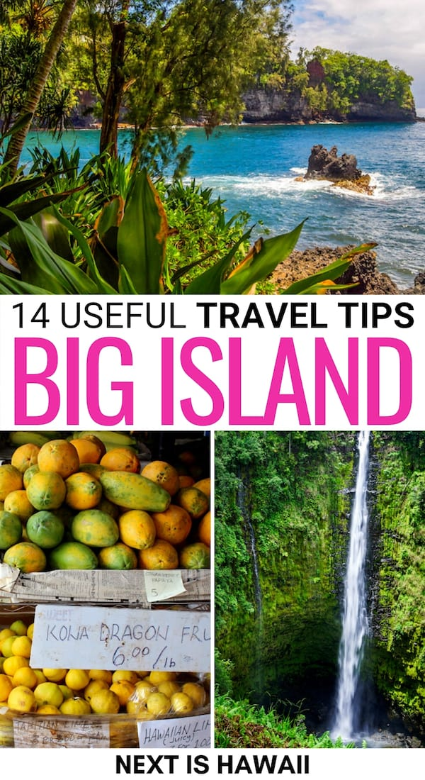 Are you looking to visit the Big Island of Hawaii soon? These Big Island travel tips have you covered - from what the weather is like to where to fly into. | Visit Big Island | Visit Hawaii | Visiting Hawaii Big Island | Big Island itinerary | Big Island trip | Trip to Hawaii | Visit Kona | Visit Hilo